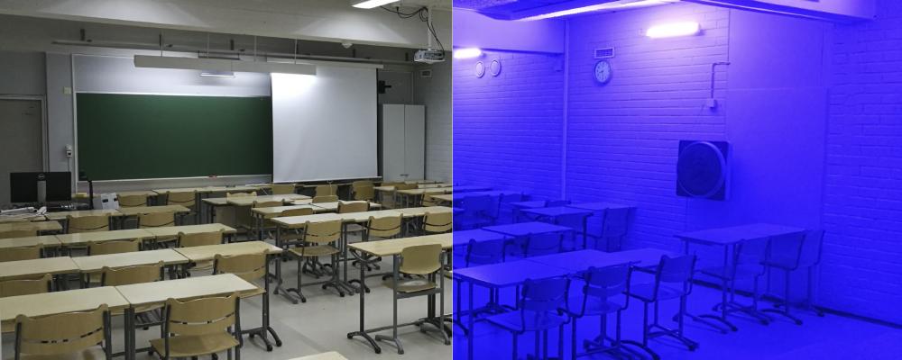 Luokkahuone Sininen Valo
